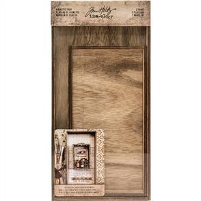 Idea-Ology Tim Holtz Wooden Vignette Trays 2/Pkg
