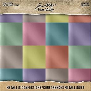 "Idea-Ology Paper Stash Kraft Metallic Confections Paper Pad 8"" x 8"" 36/Pkg"