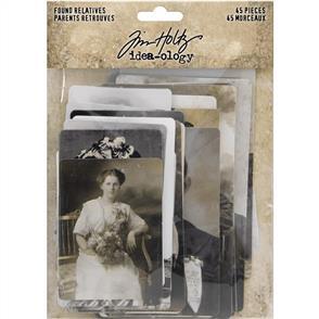 Idea-Ology Found Relatives - Vintage Portraits 45/Pkg