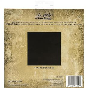 "Idea-Ology Tim Holtz - Kraft Stock Cardstock Pad 8""X8"" - Blackout"