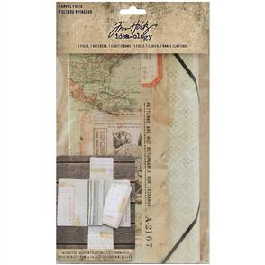 Idea-Ology Tim Holtz - Travel Folio - Folio, Notebook & Plastic Band