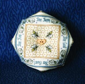 The Sweetheart Tree  Cross Stitch Chart - Crystal Honey Biscornu Pincushion