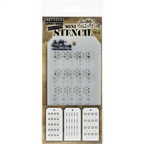 Stampers Anonymous  Tim Holtz  - Mini Layered Stencil Set 3/Pkg - Set #45