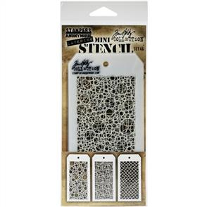 Stampers Anonymous  Tim Holtz - Mini Layered Stencil Set 3/Pkg - Set #46