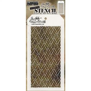 Stampers Anonymous Tim Holtz Layering Stencil - Woven