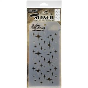 Stampers Anonymous  Tim Holtz - Layered Stencil - Sparkle