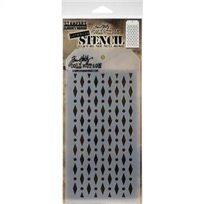 "Stampers Anonymous  Tim Holtz - Layered Stencil 4.125""X8.5"" - Diamond Dots"