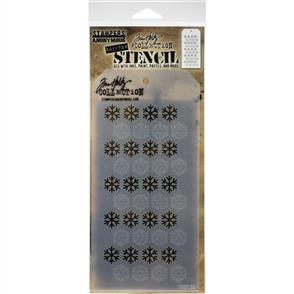 Stampers Anonymous  Tim Holtz - Layered Stencil - Shifter Snowflake