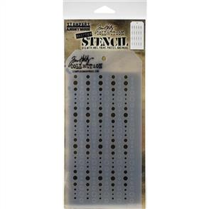 """Stampers Anonymous Tim Holtz - Layered Stencil 4.125""""X8.5"""" - Shifter Baubles"""