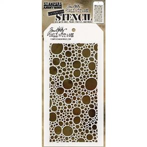 "Stampers Anonymous  Tim Holtz - Layered Stencil 4.125""X8.5"" - Bubbles"