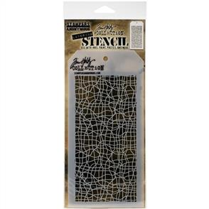 "Stampers Anonymous  Tim Holtz - Layered Stencil 4.125""X8.5"" - Tangles -Layered"