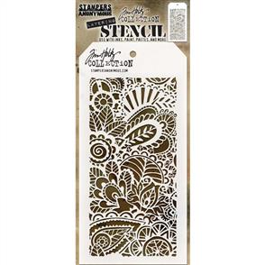"Stampers Anonymous  Tim Holtz - Layered Stencil 4.125""X8.5"" - Doodle Art 1 -Layered"