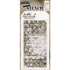 "Stampers Anonymous  Tim Holtz - Layered Stencil 4.125""X8.5"" - Halftone -Layered"