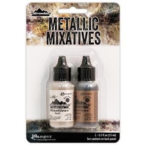 Ranger Ink  Tim Holtz Alcohol Ink Metallic Mixatives 2/Pkg - Copper / Pearl