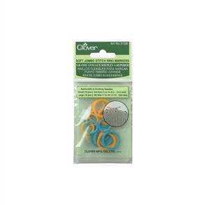 Clover  Soft Stitch Jumbo Ring Markers 20/Pkg