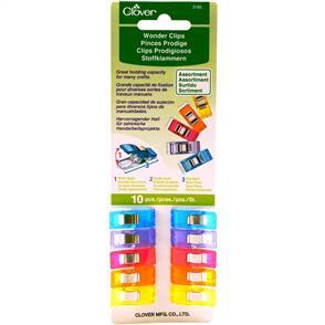 Clover Wonder Clips 10/Pkg - Assorted Colours