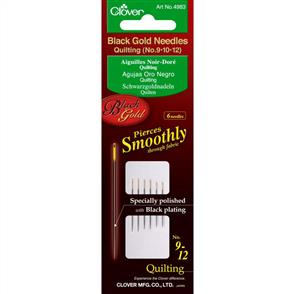 Clover Black Gold Quilting Needles No. 9, 10 & 12