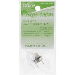 "Clover Magnetic Tote Bag Closure 1/2"" Antique Gold"