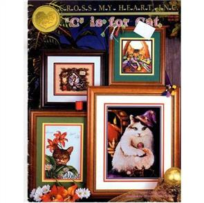 Cross My Heart  Cross Stitch Chart - C is for Cat