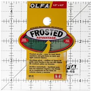 "OLFA Frosted Ruler Sq 4.5""x4.5"""
