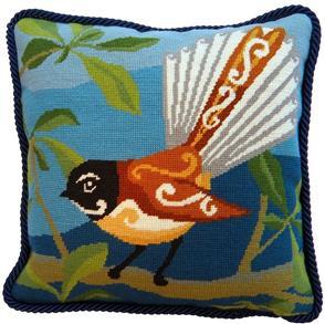 The Stitchsmith Needlepoint Kit: Piwakawaka - Fantail