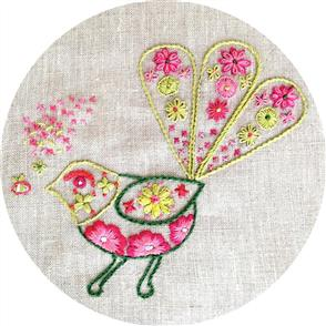 The Stitchsmith  Bee meets Fantail Embroidery Kit