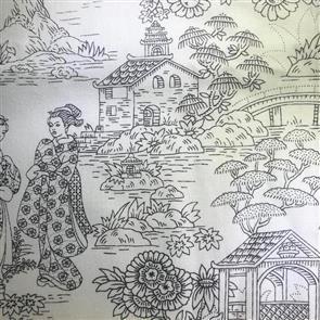 Timeless Treasures Fabric - Japanese Garden - 4534