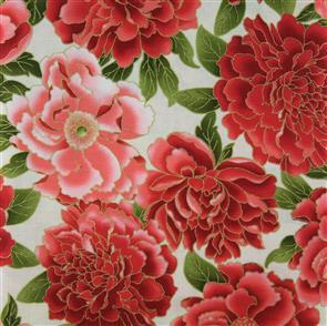 Timeless Treasures Fabrics - Lotus - 8437 Red