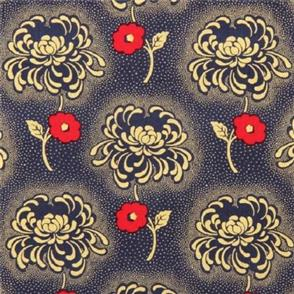 Timeless Treasures Fabric - Revive - 4203 Navy