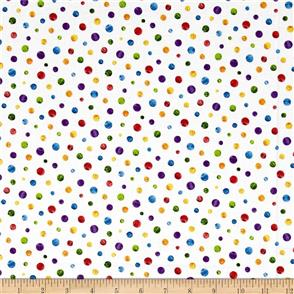 Andover Fabric  The Very Hungry Caterpillar - Small Spot Multi