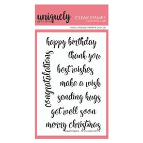 Uniquely Creative  - Clear Stamps: All Occasions