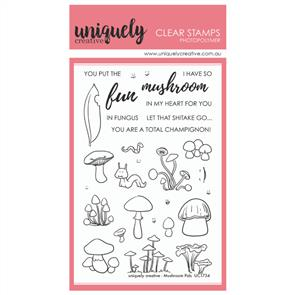 Uniquely Creative - Clear Stamps: Mushroom Pals