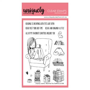 Uniquely Creative - Clear Stamps: Read Past Your Bedtime