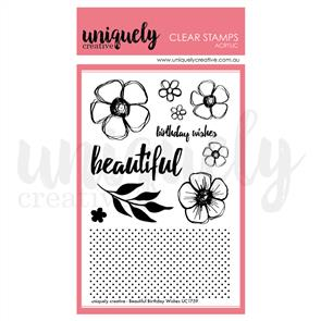 Uniquely Creative  - Beautiful Birthday Wishes Stamp Set