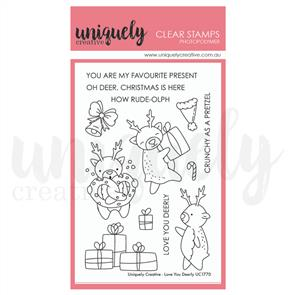 Uniquely Creative - Clear Stamps: Love You Deerly