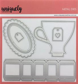 Uniquely Creative  - 3D Tea Cup - Die Set