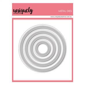 Uniquely Creative  - Cross Stitched Circle Frames Die Set