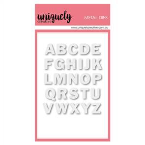 Uniquely Creative  - Small Uppercase Alpha - Die Set