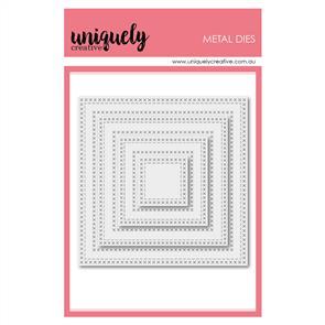 Uniquely Creative  - Cross Stitch Nesting Squares Die Set