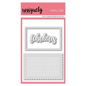 Uniquely Creative  - Stitching Rectangle Frame Die Set