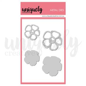Uniquely Creative  - Chunky Scribble Flowers Die Set