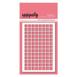 Uniquely Creative - Small Grid Stencil