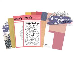 Uniquely Creative  - Flying By - Stamp and Colour Kit