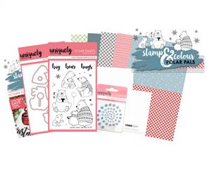 Uniquely Creative  - Polar Pals - Stamp and Colour Kit