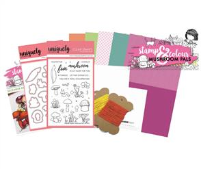Uniquely Creative  - Mushroom Pals - Stamp and Colour Kit