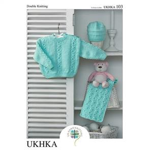 UKHKA  Pattern 103 - Sweater, Hat and Scarf