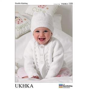 UKHKA Pattern 110 - Cardigans, Hat & Blanket