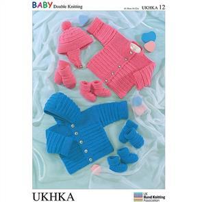 UKHKA Pattern 12 - Jacket, Cardigan, Hat, Mittens, Bootees