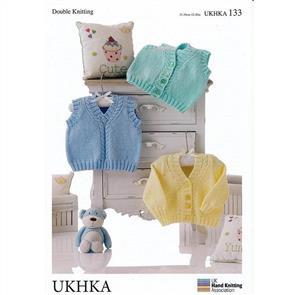 UKHKA Pattern 133 Cardigan, Waistcoat and Slipover