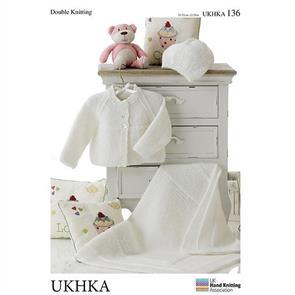 UKHKA Pattern 136 - Cardigan, Hat and Blanket